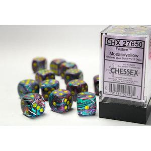 Chessex DICE SET 16mm FESTIVE MOSAIC