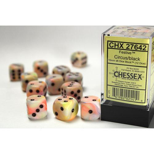 Chessex DICE SET 16mm FESTIVE CIRCUS