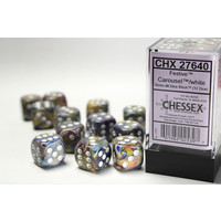 DICE SET 16mm FESTIVE CAROUSEL