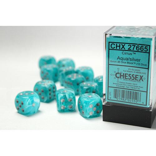 Chessex DICE SET 16mm CIRRUS AQUA