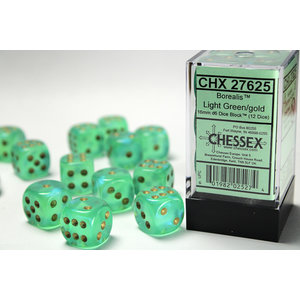 Chessex DICE SET 16mm BOREALIS LIGHT GREEN