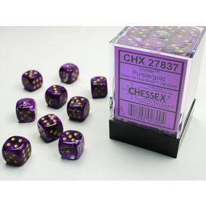 Chessex DICE SET 12mm VORTEX PURPLE