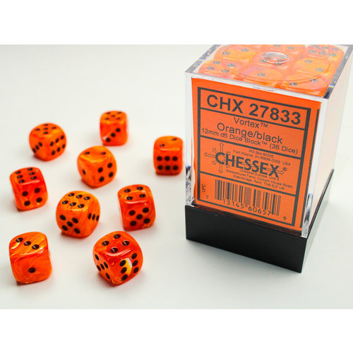 Chessex DICE SET 12mm VORTEX ORANGE