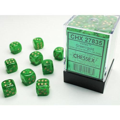Chessex DICE SET 12mm VORTEX GREEN