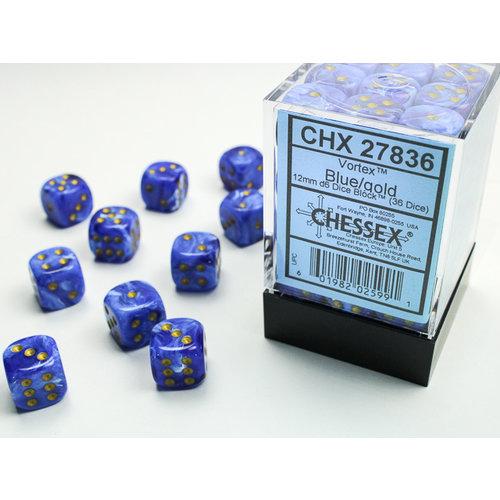 Chessex DICE SET 12mm VORTEX BLUE