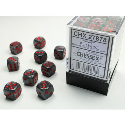 Chessex DICE SET 12mm VELVET BLACK