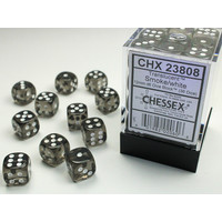DICE SET 12mm TRANSLUCENT SMOKE