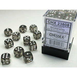 Chessex DICE SET 12mm TRANSLUCENT SMOKE