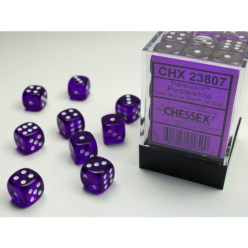 Chessex DICE SET 12mm TRANSLUCENT PURPLE