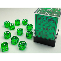 DICE SET 12mm TRANSLUCENT GREEN