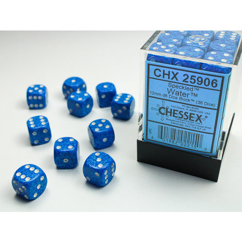 Chessex DICE SET 12mm SPECKLED WATER