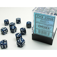 DICE SET 12mm SPECKLED STEALTH
