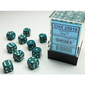 Chessex DICE SET 12mm SPECKLED SEA