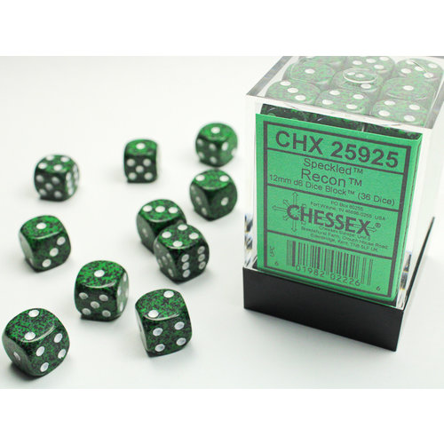 Chessex DICE SET 12mm SPECKLED RECON