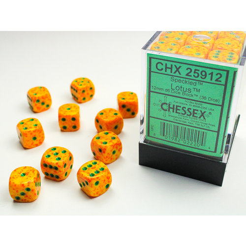 Chessex DICE SET 12mm SPECKLED LOTUS