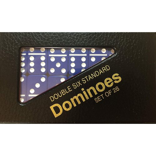 CHH QUALITY PRODUCTS DOMINOES DOUBLE 6 STANDARD BLUE