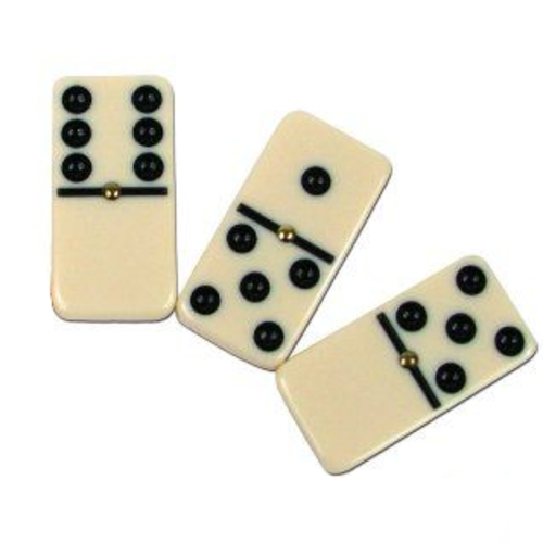 CHH QUALITY PRODUCTS DOMINOES DOUBLE 6 STANDARD SPINNERS WHITE