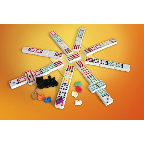 Puremco DOMINOES DOUBLE 12 MEXICAN TRAIN IN TIN BOX