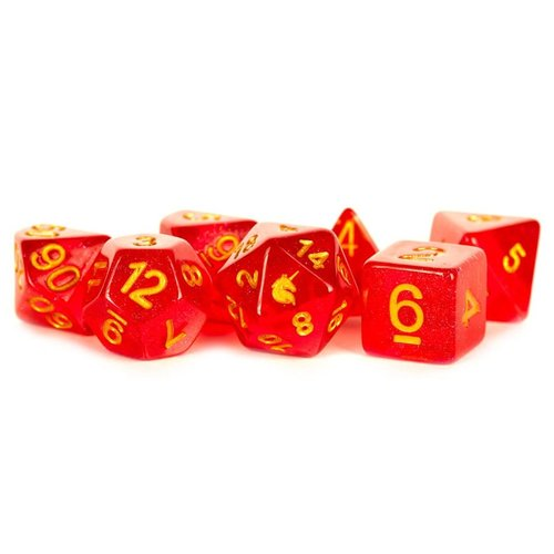 Metallic Dice Company DICE SET 7: UNICORN - RED