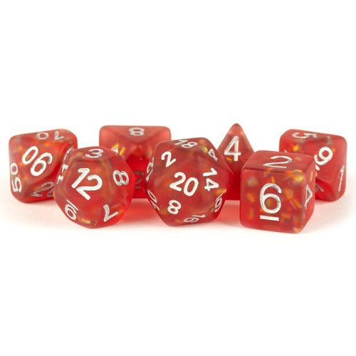 Metallic Dice Company DICE SET 7: ICY OPAL - RED