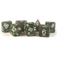 DICE SET 7: ICY OPAL - BLACK