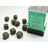 DICE SET 12mm SPECKLED EARTH