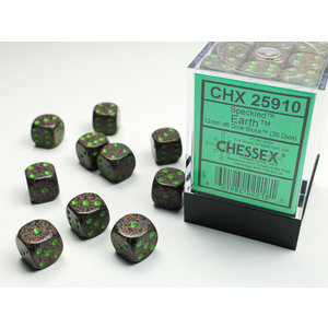 Chessex DICE SET 12mm SPECKLED EARTH