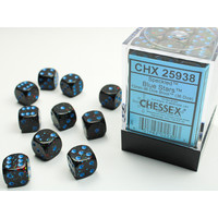 DICE SET 12mm SPECKLED BLUE STARS