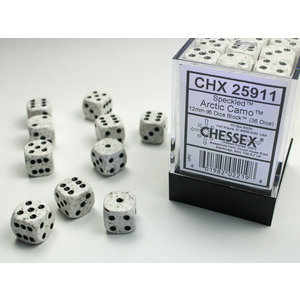 Chessex DICE SET 12mm SPECKLED ARCTIC CAMO
