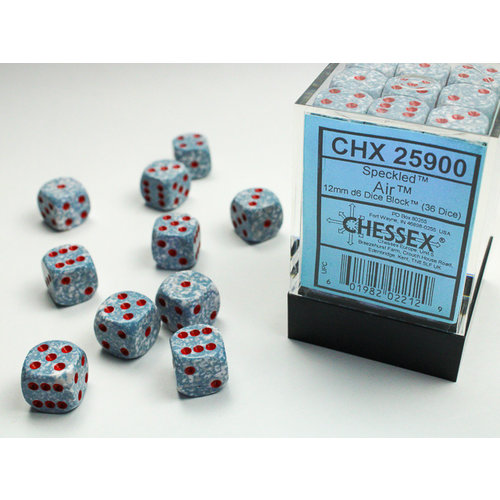 Chessex DICE SET 12mm SPECKLED AIR
