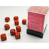 DICE SET 12mm SCARAB SCARLET