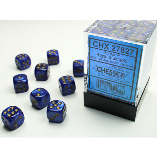 Chessex DICE SET 12mm SCARAB ROYAL BLU