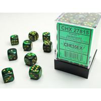 DICE SET 12mm SCARAB JADE