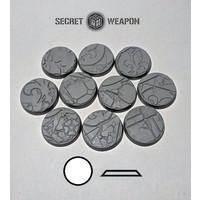 SCENIC BASES: SILENT HALLS - BEVELED EDGE 25mm (10)