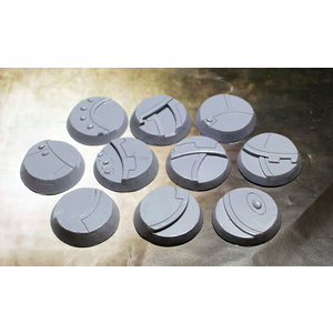 Secret Weapon Miniatures SCENIC BASES: GHOST STONE - BEVELED EDGE 32mm (10)