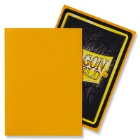 DECK PROTECTOR: DRAGON SHIELD: MATTE YELLOW (100)