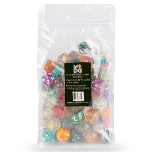 Metallic Dice Company POUND OF RESIN DICE