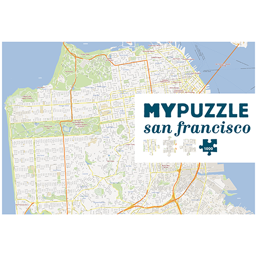 GeoToys GT1000 MYPUZZLE - SAN FRANCISCO