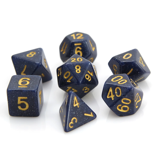 Die Hard Dice GALAXY DICE SET 7 BLUE