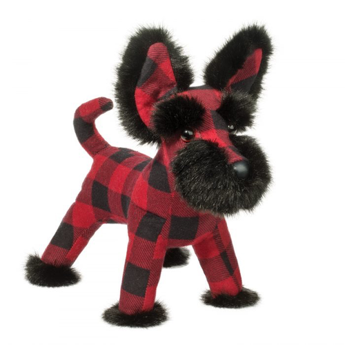 Douglas Cuddle Toys TARTAN BUFFALO PLAID SCOTTIE 11""