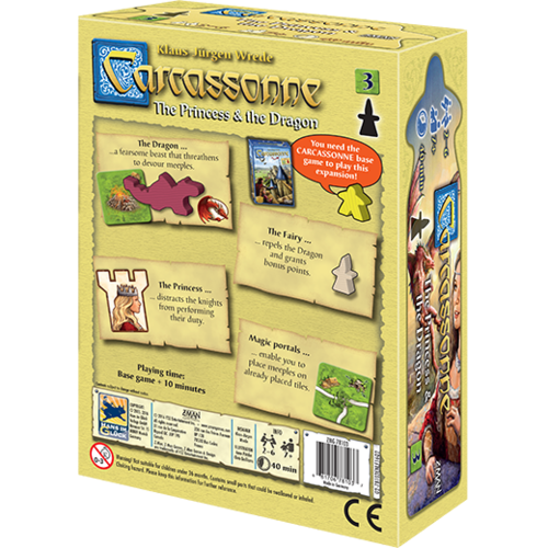 Z-Man Games CARCASSONNE: THE PRINCESS & THE DRAGON