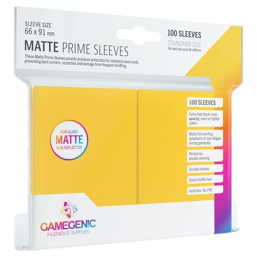 GAMEGENIC DECK PROTECTOR: MATTE PRIME - YELLOW (100)