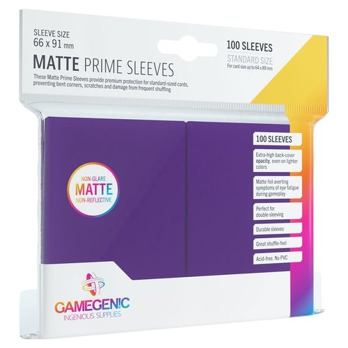 GAMEGENIC DECK PROTECTOR: MATTE PRIME - PURPLE (100)