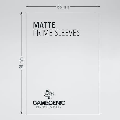 GAMEGENIC DECK PROTECTOR: MATTE PRIME - BLACK (100)
