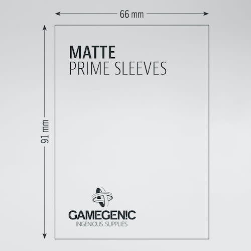 GAMEGENIC DECK PROTECTOR: MATTE PRIME - WHITE (100)