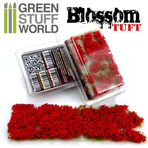 Green Stuff World BLOSSOM TUFTS - RED