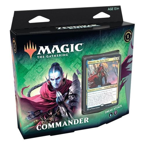 Wizards of the Coast MTG: ZENDIKAR RISING - SNEAK ATTACK - COMMANDER DECK