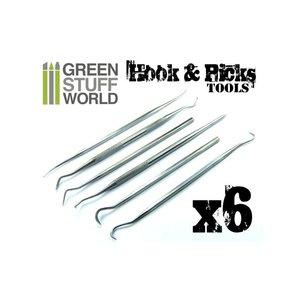 Green Stuff World HOOK & PICK TOOL SET (6)