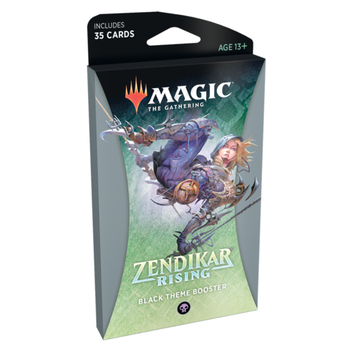 Wizards of the Coast MTG: ZENDIKAR RISING - BLACK THEME BOOSTER