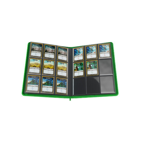 GAMEGENIC BINDER: ZIP-UP 18 POCKET - GREEN